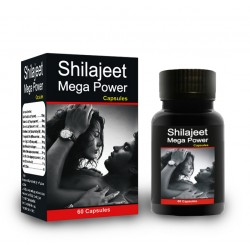 Shilajeet Mega Power 60 Capsules Live Healthy, Increase Sexual and Immunity power.