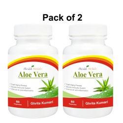 Aloe Vera-Ghritkumari  120 Cap$sules All Type Skin's Care