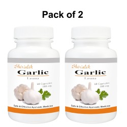 Garlic- Allium sativum_Lasuna 120 Capsules Special For Digestion, Skin, Hair, Respiratory System,
