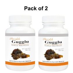 Gugglu- Commiphora mukul 120 Capsules Special for  Female Reproductive System, Female Body, Weight loss.