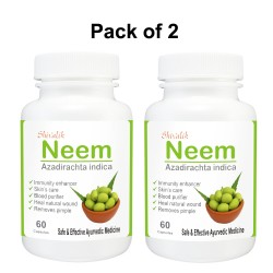 Neem- Azadirachta indica 120 Capsules Special for  Blood Purifier, Skin Care