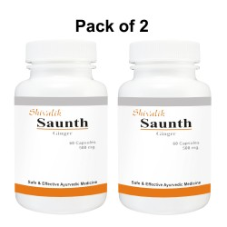 Saunth- Zingiber officinale 120 Capsules Special for Arthritis, Cholesterol, Gastritis, Irritable bowel syndrome,
