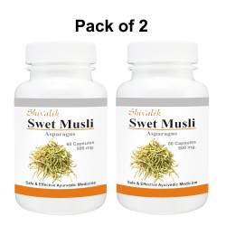 Swet Musli- Asparagus adscendens  Capsules  for  Immunity, Female Reproductive System.