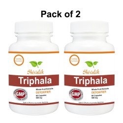 Triphala 120 Capsules Special for Constipation, Blood Circulation, Cholestrol, Blood Pressure, Liver,