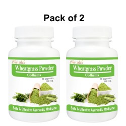 Wheatgrass Powder- Triticum sativum 120 Capsules Special for  Anti Aging, Rejuvenation, Multivitamin, Nutritions